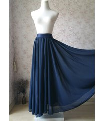 navy blue chiffon full long maxi skirt women navy maxi silky chiffon skirt nwt