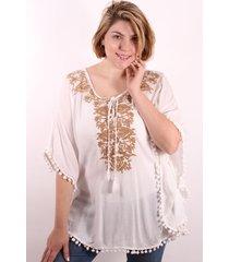 blusa blanca spiga 31 bordada