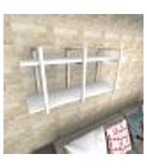 prateleira industrial para sala aço branco prateleiras 30 cm branca modelo indb20bsl