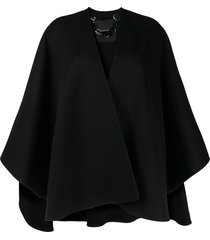 ermanno scervino oversized cape jacket - black
