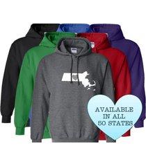 massachusetts hoodie sweatshirt love home heart unisex men women state