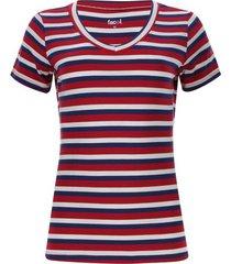 camiseta mujer lineas color azul, talla m