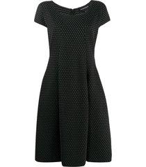 emporio armani a-line shift dress - black