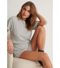 na-kd lingerie ribbed playsuit pyjamas - grey