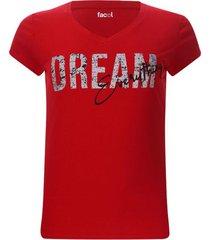camiseta dream color rojo, talla m