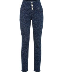 jeans skinny leopardati in cotone biologico (blu) - rainbow