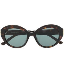 balenciaga eyewear bb round frame sunglasses