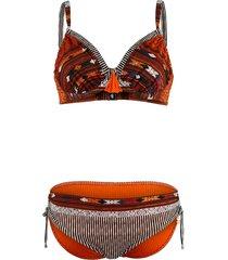 bikini opera bruin/oranje