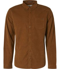 no excess shirt long sleeve fine corduroy bronze