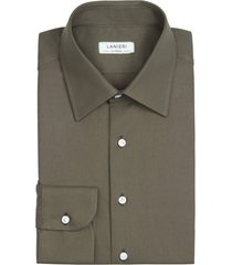 camicia da uomo su misura, thomas mason, twill verde oliva, quattro stagioni | lanieri