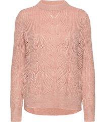objnova stella l/s knit pullover noos stickad tröja rosa object