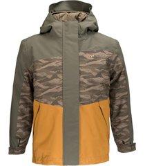chaqueta andes snow  print verde militar lippi