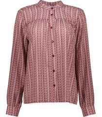 geisha 03534-70 480 blouse printed dachshund burgundy/sand/blue