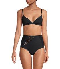 stella mccartney women's triangle bikini top - black - size s