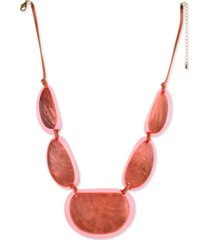 "style & co resin statement necklace, 21-1/2"" + 3"" extender, created for macy's"