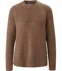 trui met ronde hals en lange mouwen van day.like bruin
