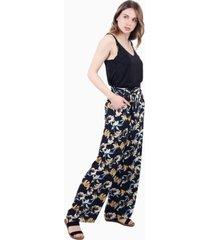 pantalón greta con lazo floral print jacinta tienda