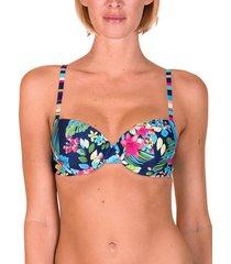 bikini lisca florida voorgevormd badpak top marineblauw