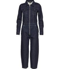 lmc western sie lmc lock an jumpsuit blå levi's made & crafted