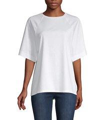 mercerized knit sheer-back t-shirt