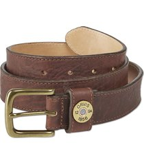 bison leather shotshell belt, brown, 42