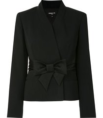 paule ka bow-belt fitted jacket - black
