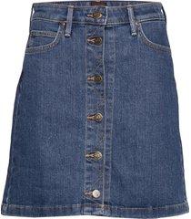 a line skirt kort kjol blå lee jeans