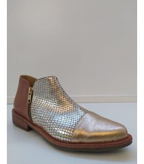 botineta de cuero cobre pazos shoes tamy
