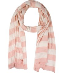 kate spade new york orchard stripe oblong scarf in english rose at nordstrom