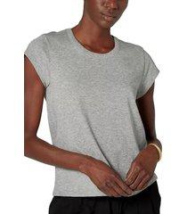 women's joie delzia keyhole t-shirt, size large - grey