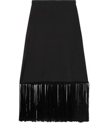 burberry tassel trim skirt - black