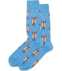 hot sox men's stars & stripes hot dog crew socks
