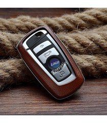 real leather keyless smart key case cover trim for part of bmw f10 f20 f30 f13 f