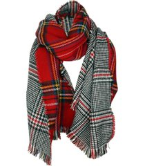 cejon scholaraly double-plaid reversible blanket scarf