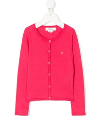 bonpoint relaxed-fit cardigan - pink
