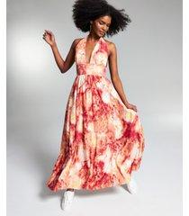 misa hylton for inc halter maxi dress, created for macy's
