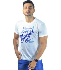 camiseta hombre manga corta slim fit blanco marfil alps
