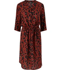 klänning zaya dress, leopardmönstrad