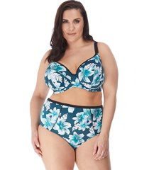 island lily floral underwire plunge multiway bikini top