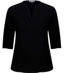 blusa unicolor color negro, talla 3xl
