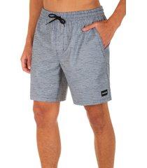 men's hurley stretch swim trunks, size xx-large - grey