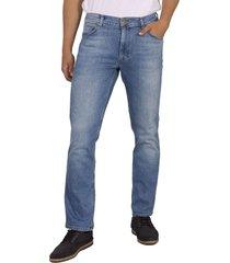 wrangler greensboro mid. summer blue stretch jeans