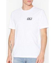 calvin klein jeans bmx ckj graphic chest reg ss tee t-shirts & linnen vit