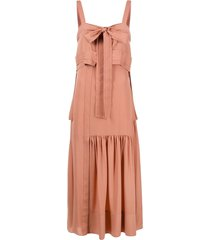 3.1 phillip lim bow detail flared dress - pink