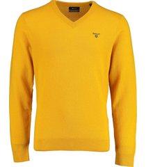 gant pullover lamswol geel rf 8010520/710