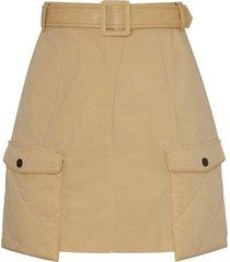elle street quilt mini skirt