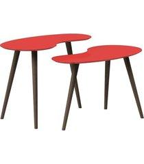 conjunto de mesa feijão pinoquio vermelho