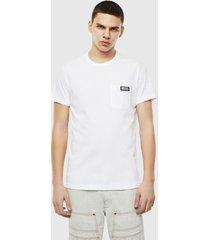 polera t worky slits t shirt 100 blanco diesel