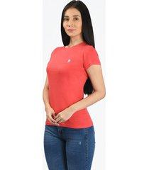camiseta básica rosado claro para mujer