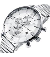 reloj mini focus mf0236g-1 para hombre-plata